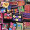 59 2015-11 Guatemala Antigua Santo Domingo Monastery 54: Embroidered wares for sale