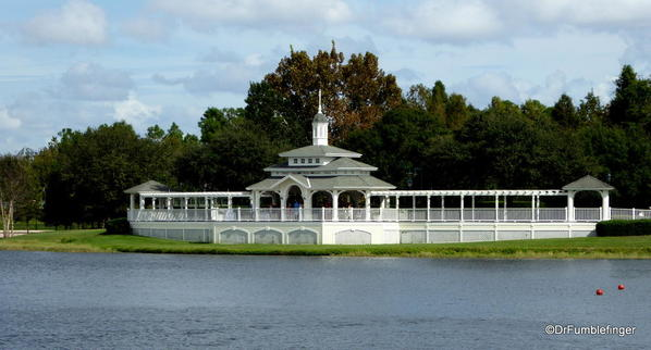 Pavillion between Boardwalk and the Beach Club, Walt Disney World, Florida. A popular setting for weddings