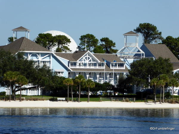 Disney Beach Club viewed from the Boardwalk, Walt Disney World, Florida