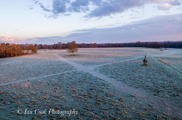 Grounds of Blickling Estate in winter