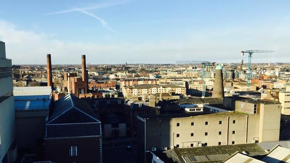 View of Dublin from St James Gate