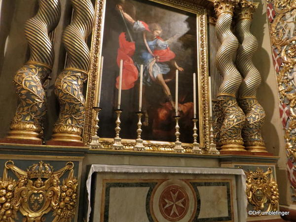 54 St John's Co-Cathedral, Valleta. Chapel of Provence. Dedicated to the Archangel Gabriel