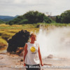 Me posing in front of one of the geysers surrounding Lake Bogoria