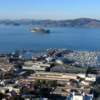 View of San Francisco from the Coit Tower.: Pictured is Alcatraz and Pier 39.