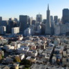 View of San Francisco from the Coit Tower.: Pictured is downtown San Francisco.