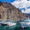 .Vueltas Port, Valle Gran Rey, Gomera, in Spain's Canary Islands.