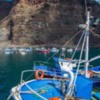 Vueltas Port, Valle Gran Rey, Gomera, in Spain's Canary Islands.