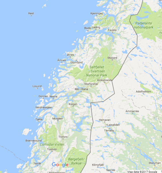 Svartisen map