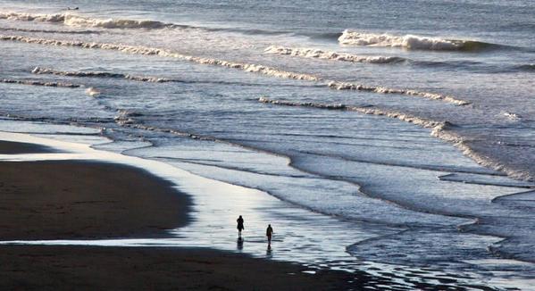 Beach walk and tide