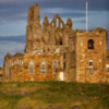Whitby Abbey and church.