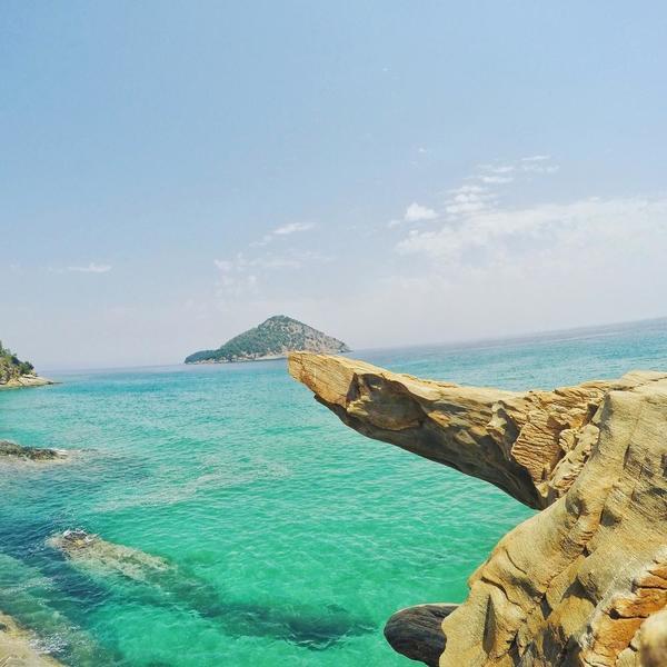 Plaja Paradis Thassos grecia 2017