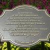 """Partners"" statue rededication plaque.: Disneyland, Anaheim, California."