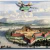 Antique print of the Batticaloa Fort, 1672