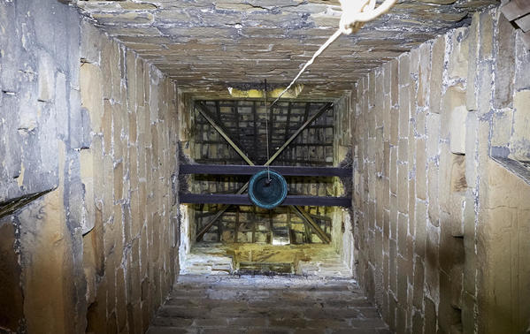 Interior of the Medieval bell tower.