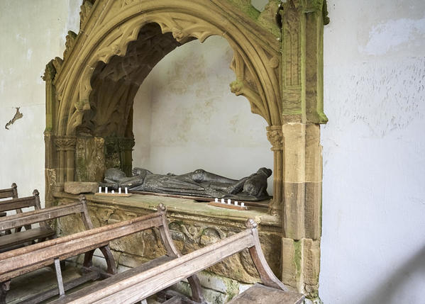 Effigy and stonework detail.