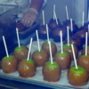 Creating caramel apple works of art.: Marceline's Confectionery, Downtown Disney, California