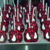 Spiderman caramel apples.: Marceline's Confectionery, Downtown Disney, California