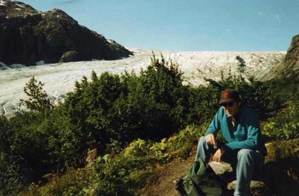 Dan at the glacier