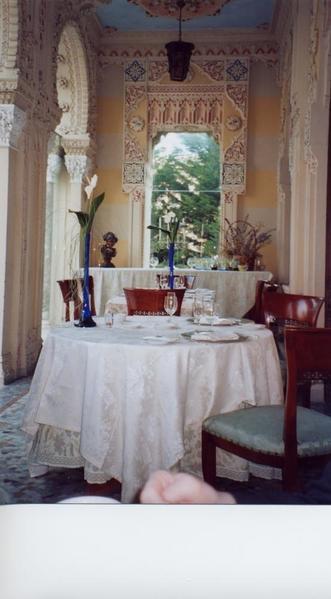 Villa Crespi Breakfast Table