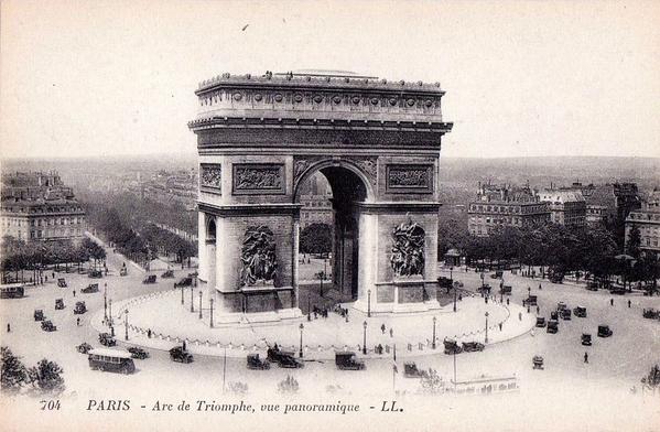 Paris._Arc_de_Triomphe._Postcard,_c.1920