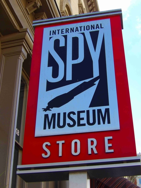 Spy Museum Store Sign