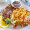 Peg's Glorified Ham n Eggs.  Omelet