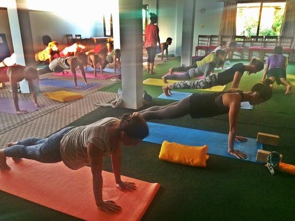Yoga teacher training3.