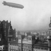 Graf Zeppelin over the Palacio Barolo, June 30, 1934.  Courtesy Wikimedia and National Archives of Argentina