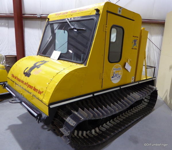 23 Yukon Transporation Museum. Bombardier, father of the modern snow-mobile. 1954
