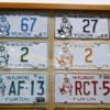 License plate display, Yukon Transporation Museum