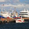 Australis at port Puenta Arenas