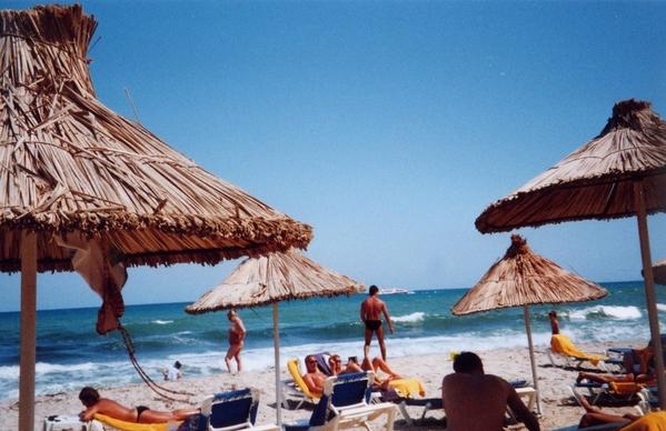 Greek Beach Scene