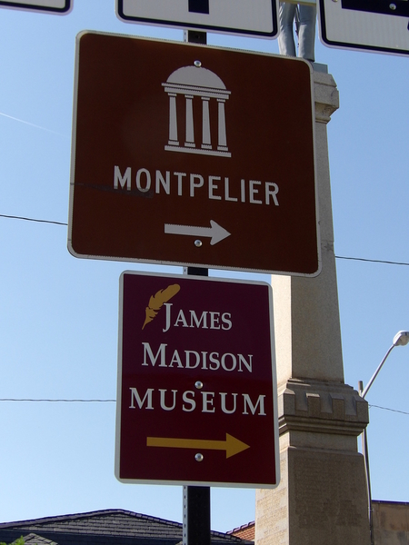 Museum Directional Sign