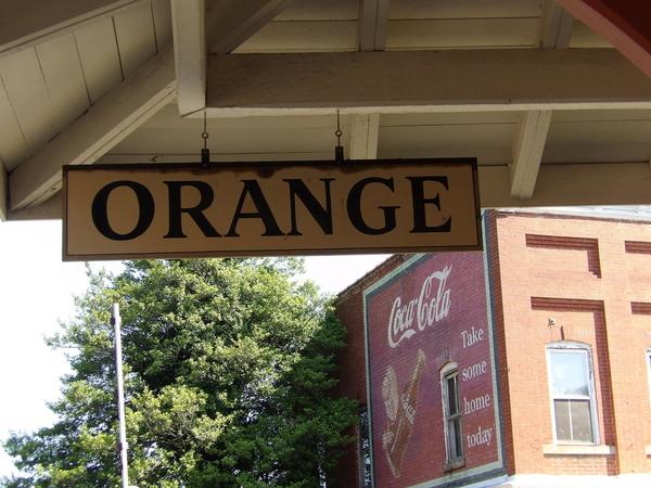 Orange Coca Cola Mural