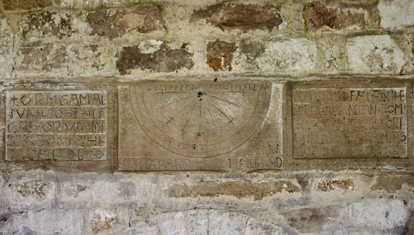 Anglo-Saxon Sundial - entrance to the minster.