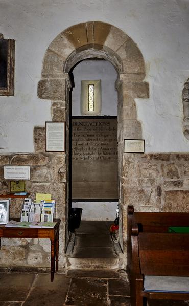 Saxon interior arched door to belfry.