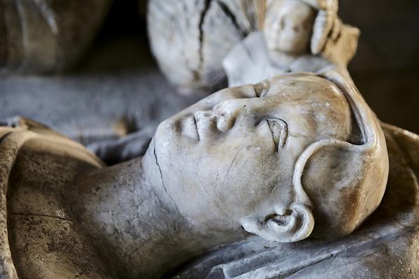 Lady Marmion - alabaster tomb effigy.