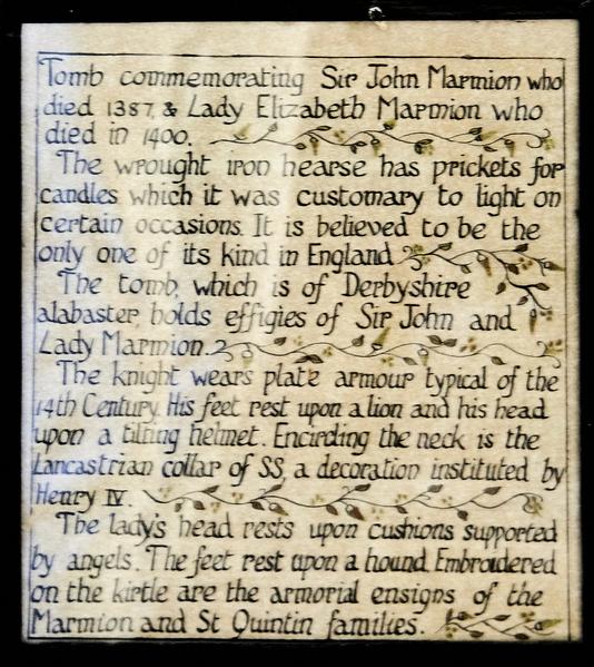 Marmion history.