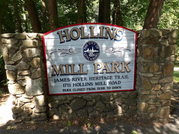 Hollins Mill Park Signage