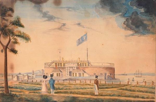 New_York,_Battery_Park_and_Castle_Garden_1827