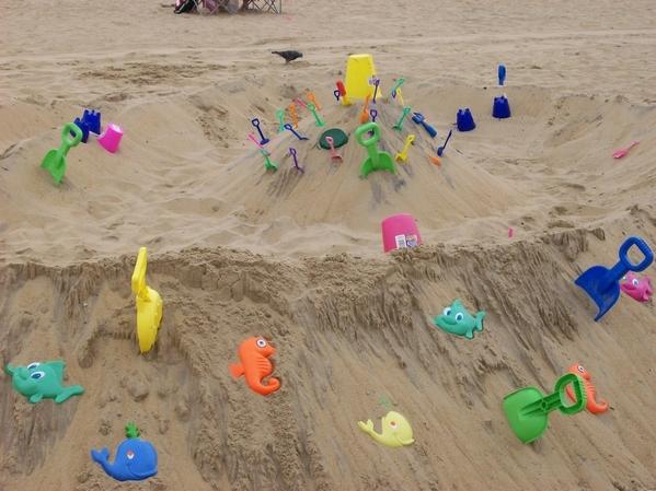 Beach Digging Fun