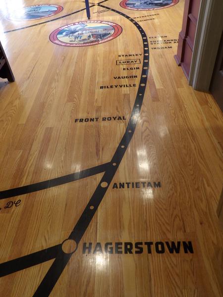 Luray Railroad Museum Floor