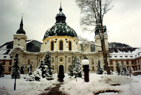 Ettal Monestary Snowed In