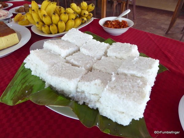 Kiribath – rice prepared with coconut milk New Years and Hotel, Polonnaruwa (29)
