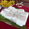 Kiribath – rice prepared with coconut milk, New Years, Heritage Hotel, Polonnaruwa