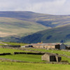 Yorkshire Dales - farm and hills .
