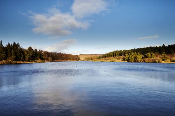 Blue view - Cod Beck reservoir.