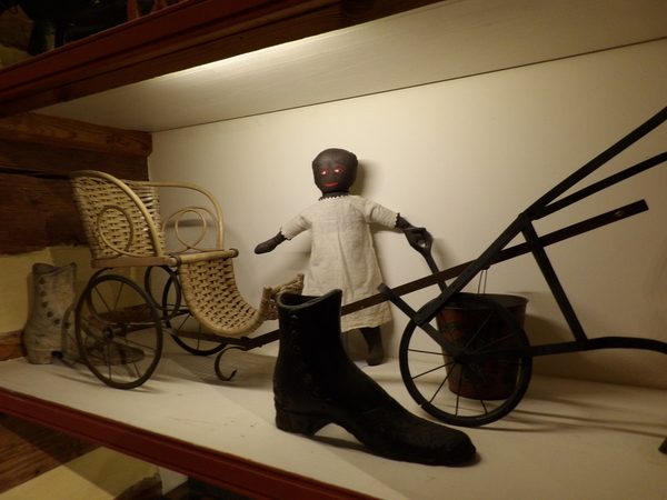Child Sleigh and Doll