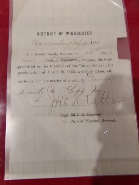 Oath Certificate