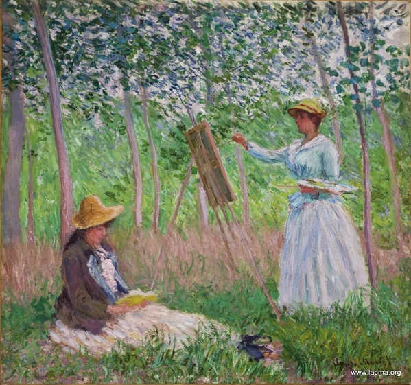 into the woods at giverney monet